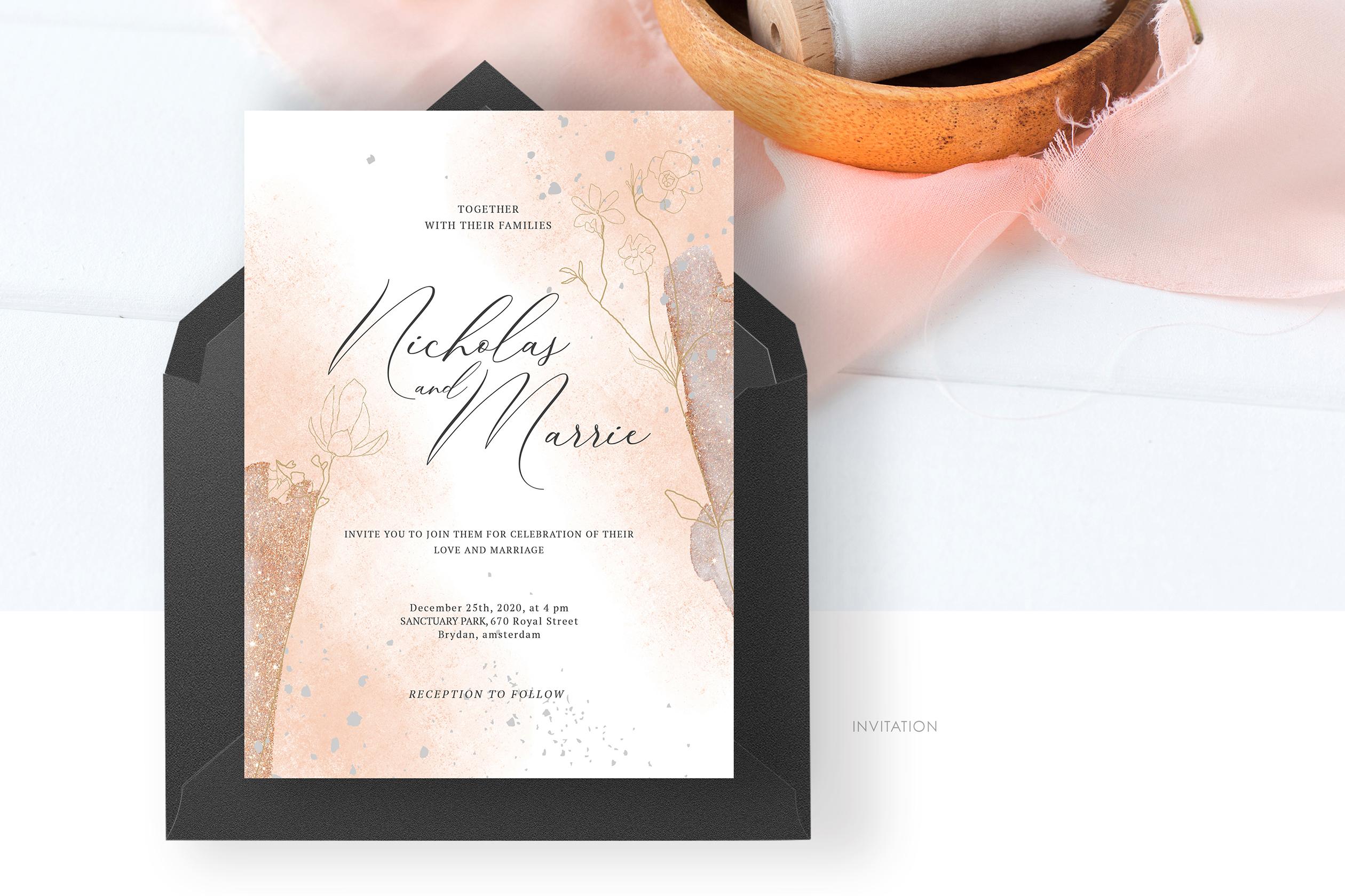 Blush Foliage Wedding Suite example image 4