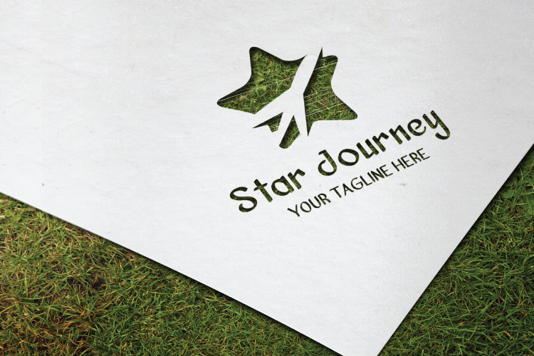 Airplane Star Travel Logo example image 3