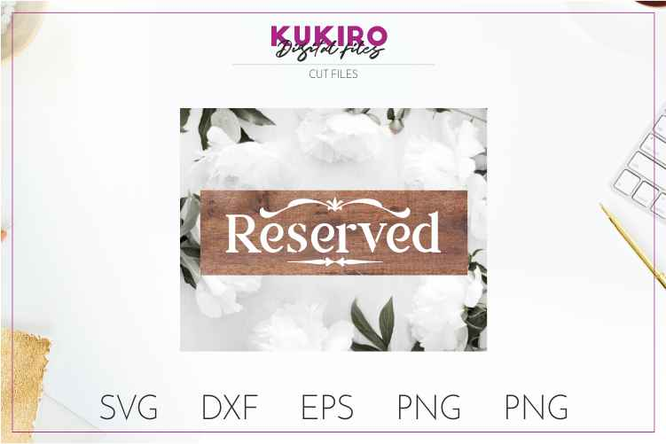 Reserved - Wedding cut file SVG JPG PNG DXF EPS example image 2