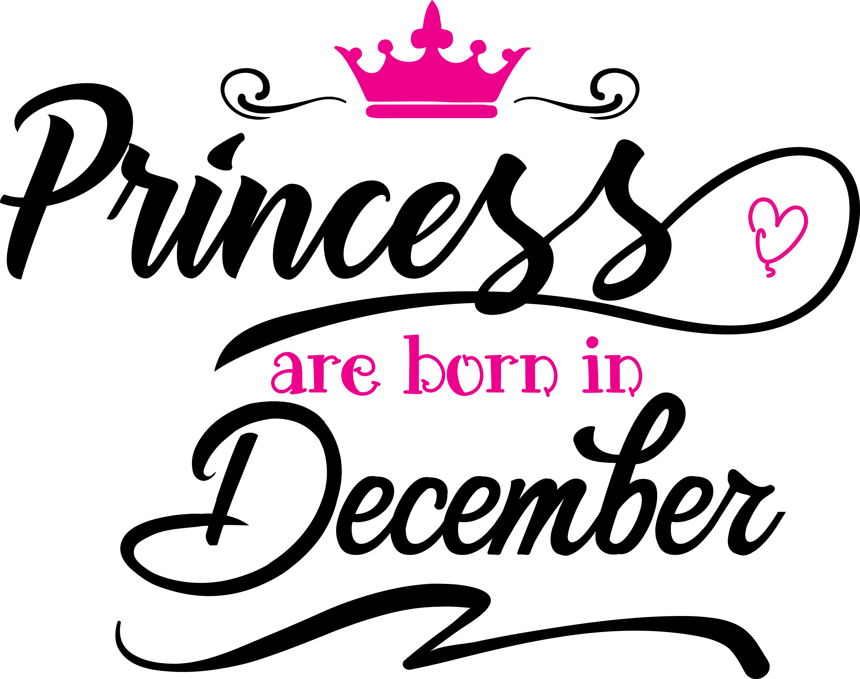 Princess are born in December  Svg,Dxf,Png,Jpg,Eps vector file example image 2