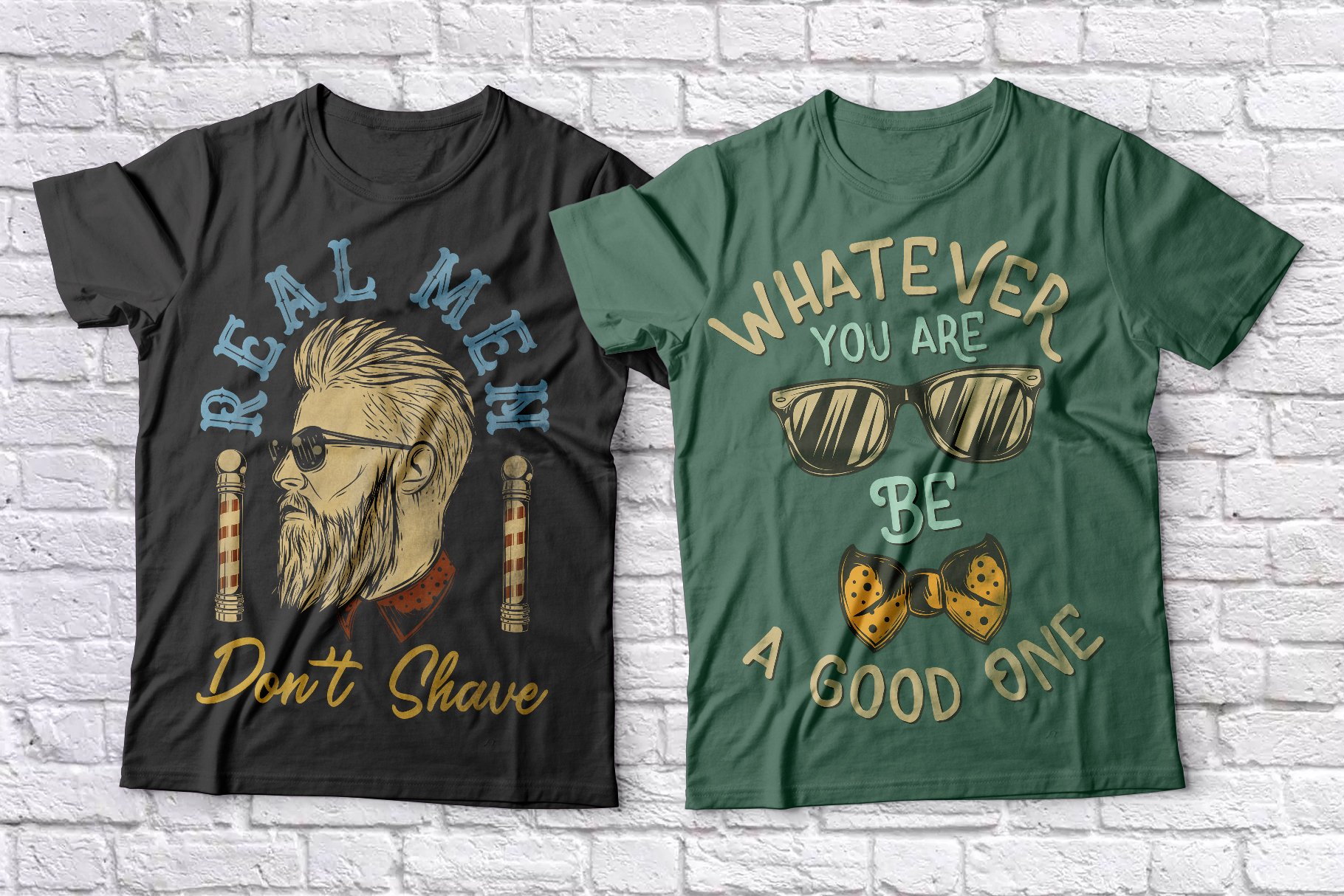 Hipster t-shirts set example image 2