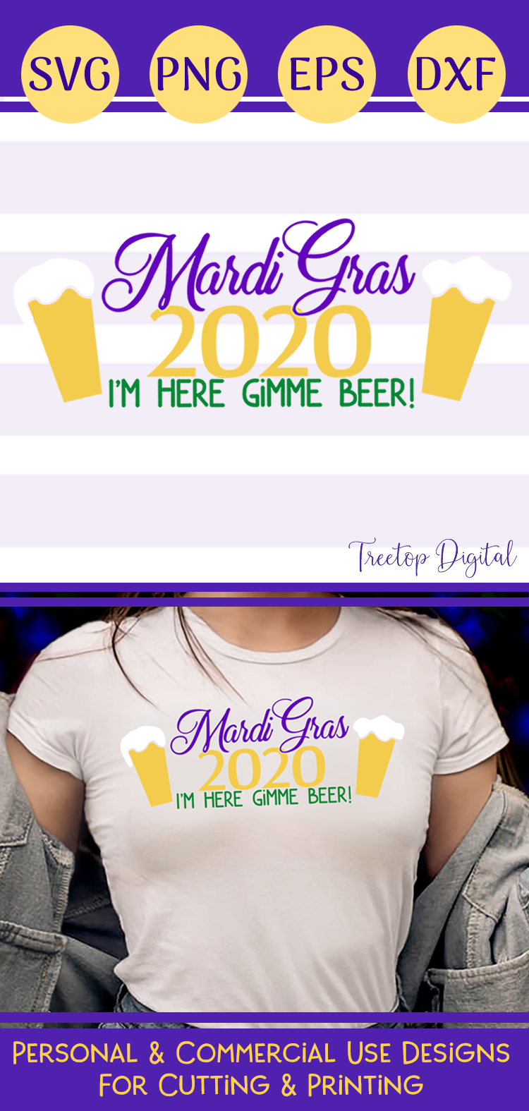 Mardi Gras 2020, I'm Here Gimme a Beer! A Mardi Gras SVG example image 5