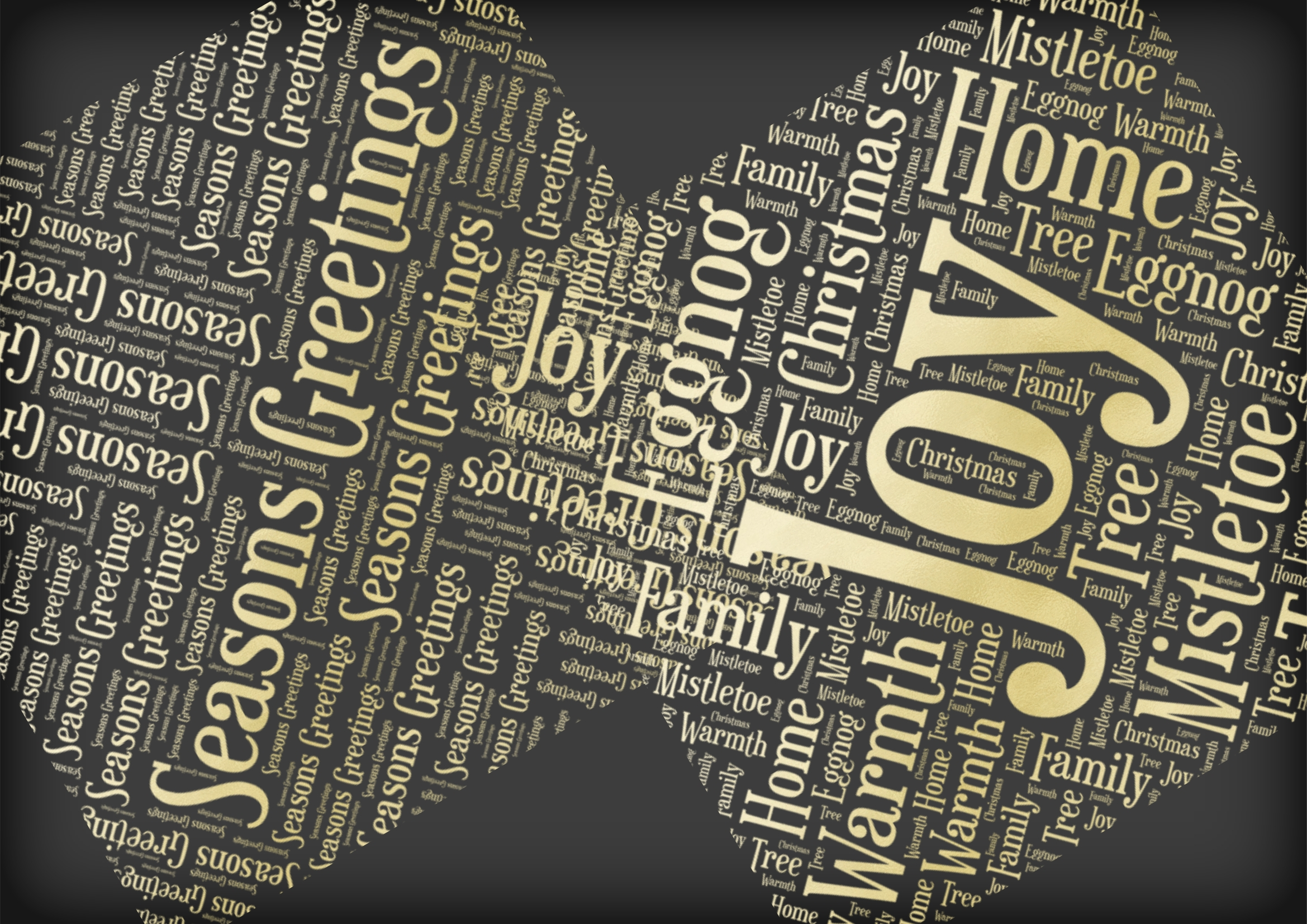 Christmas Soft Gold Word Overlays example image 4