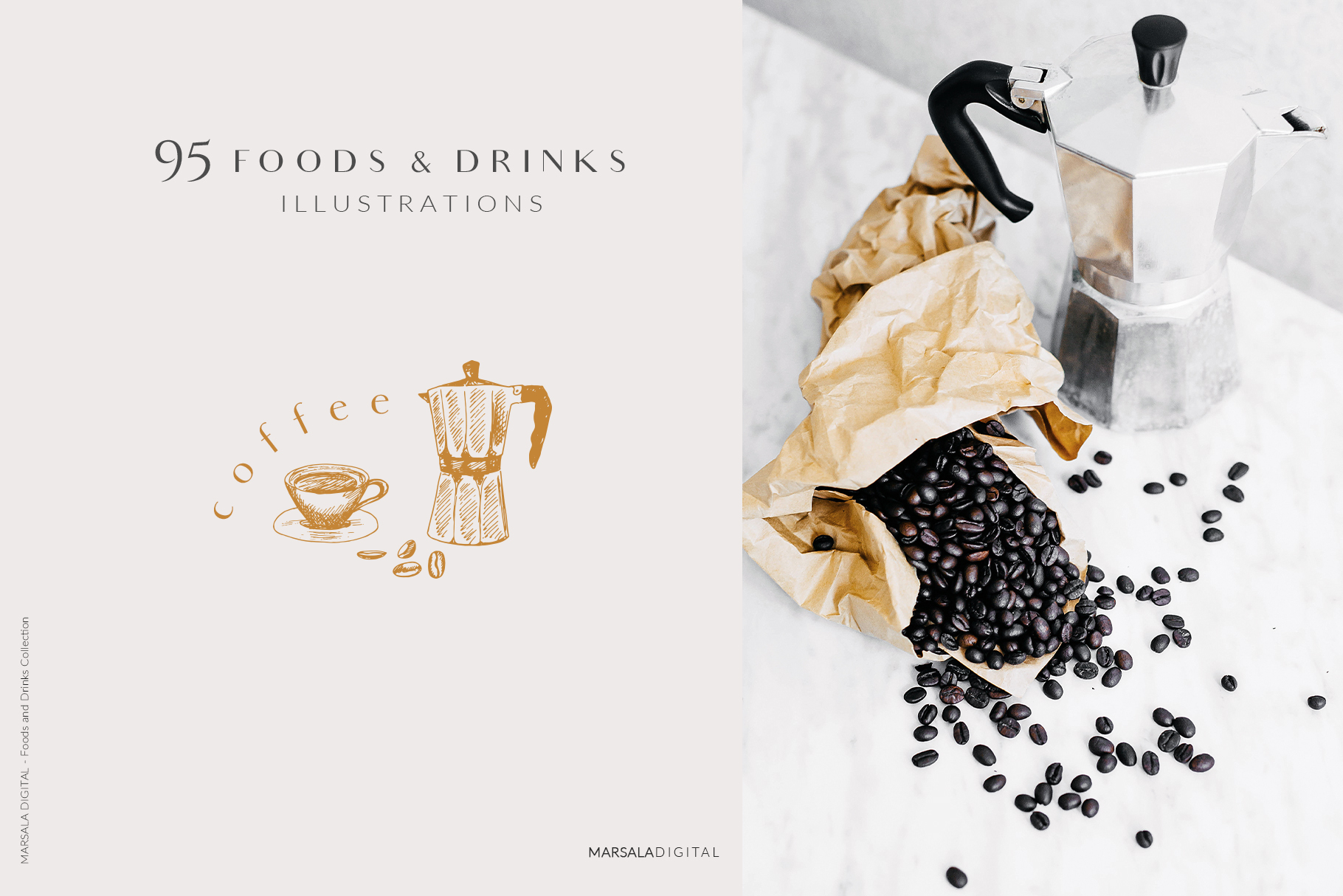 Foods & Drinks Logo Elements Handrawn Graphics example image 3