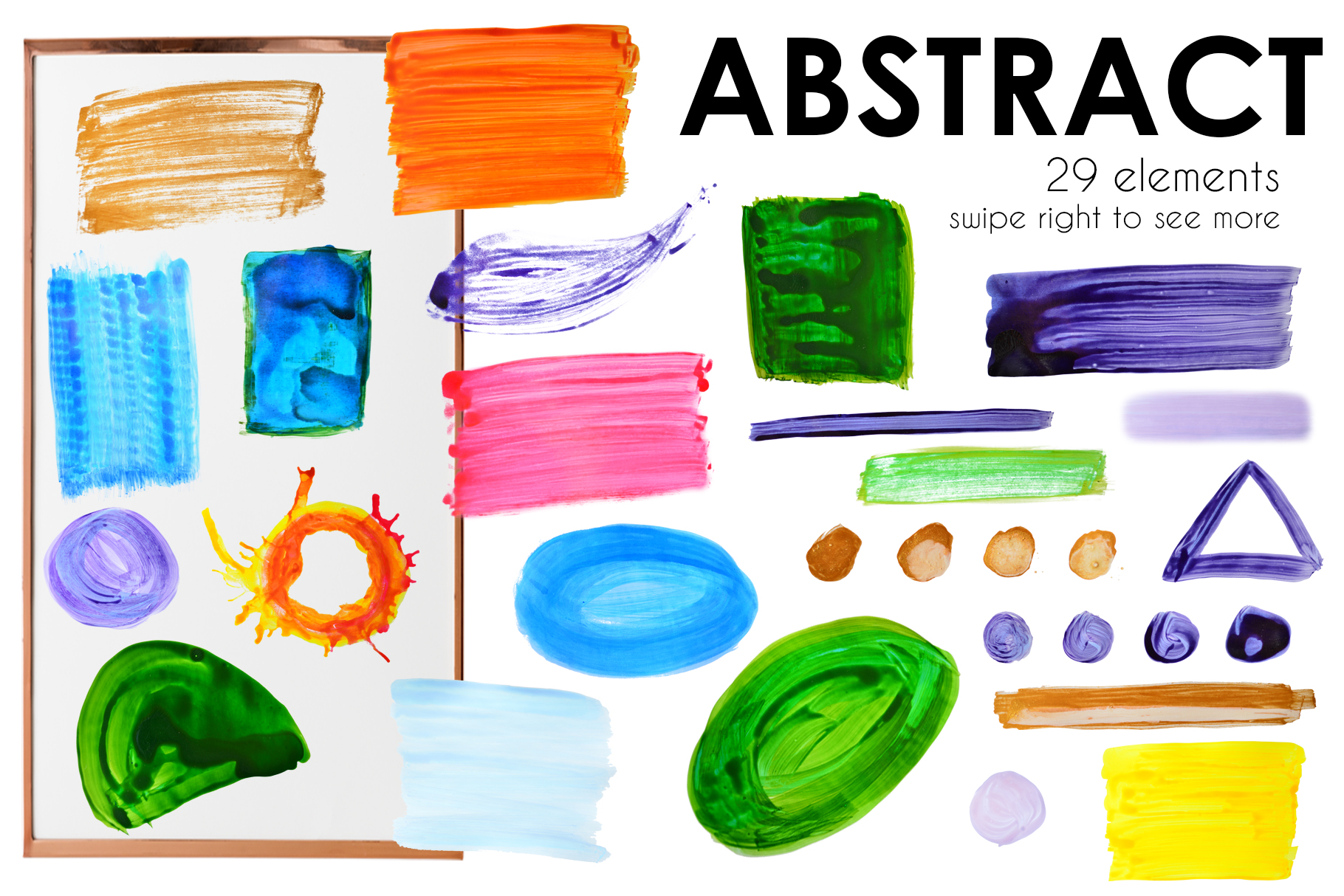 Abstract watercolor painted example image 2