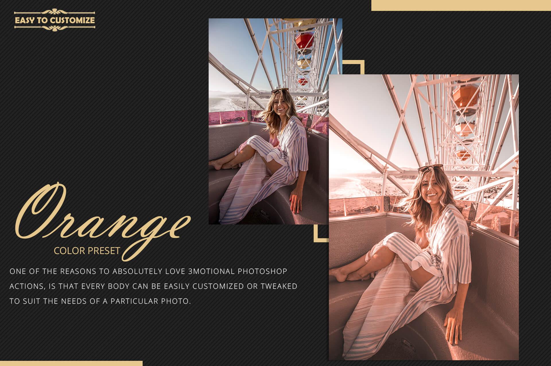 Orange Theme Color Grading Photoshop Action example image 10