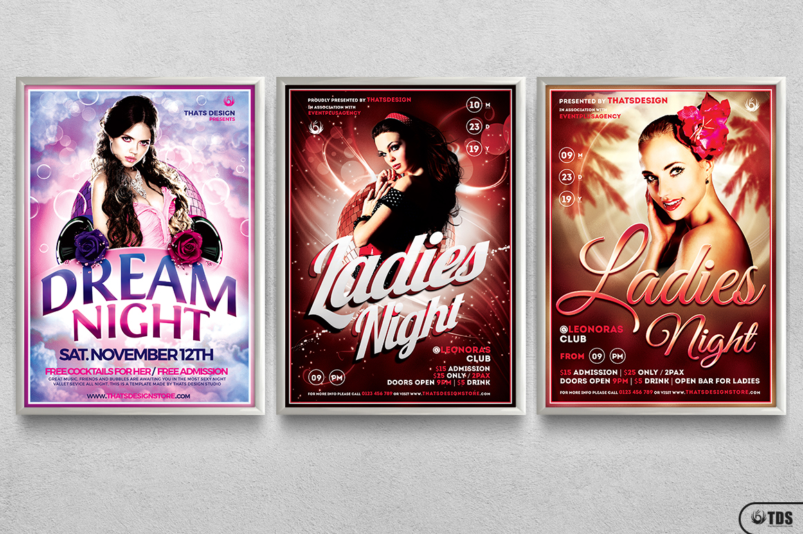 Ladies Night Flyer Bundle V1 example image 11