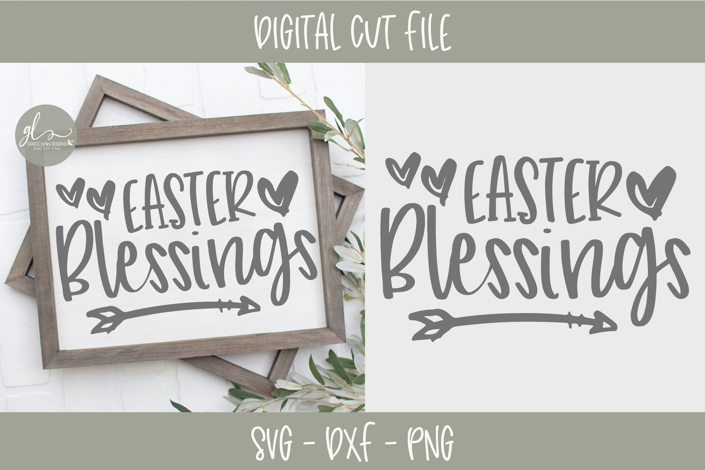 Easter Blessings - SVG Cut File example image 1