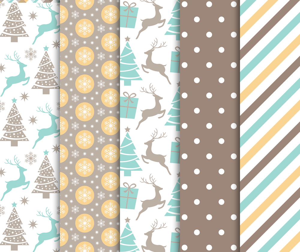 Christmas Digital Paper Pack / Backgrounds / Scrapbooking / Patterns / Printables / Card Making example image 3