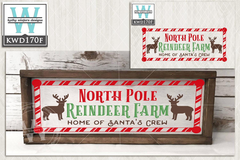 Christmas SVG - Reindeer Farm KWD170F example image 2