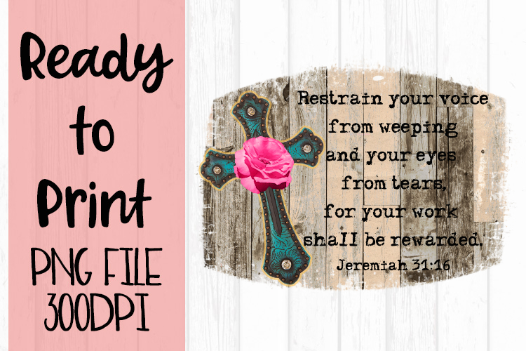 Restrain Your Voice Scripture Ready to Print example image 1