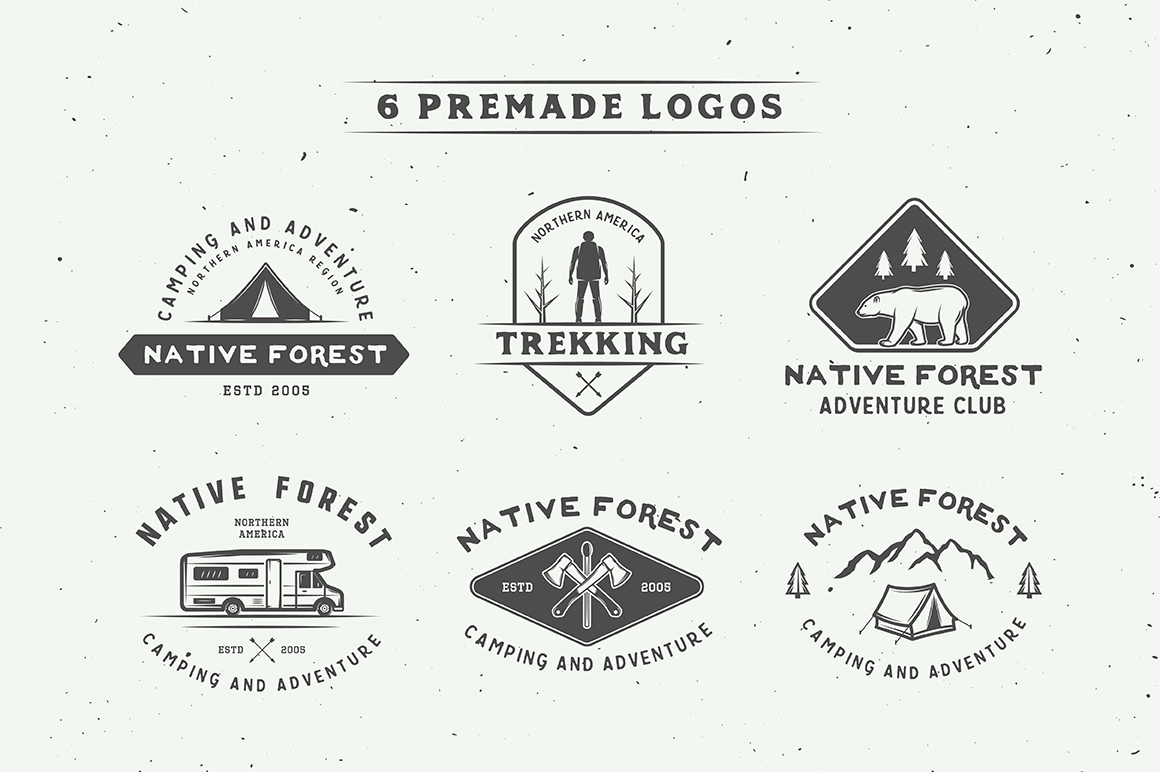 Camping Outdoor Logo Creation Kit example image 3