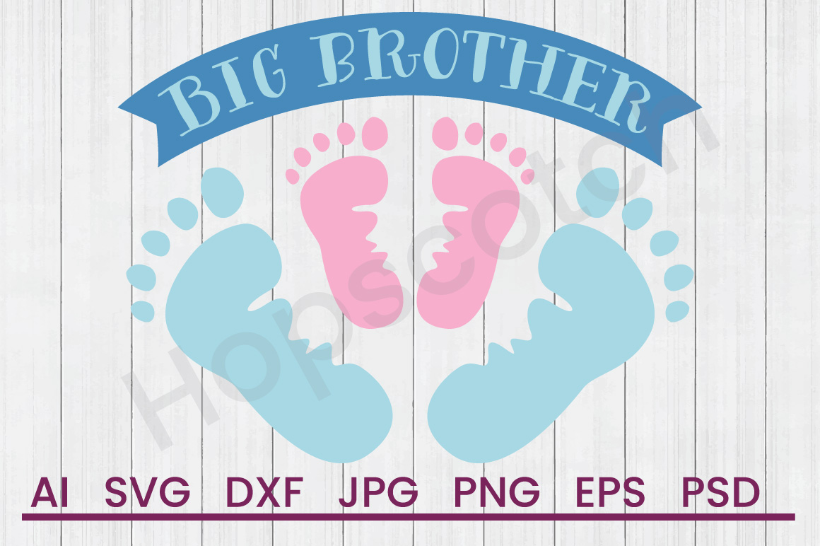 Footprints SVG, Big Brother SVG, DXF File, Cuttatable File example image 1
