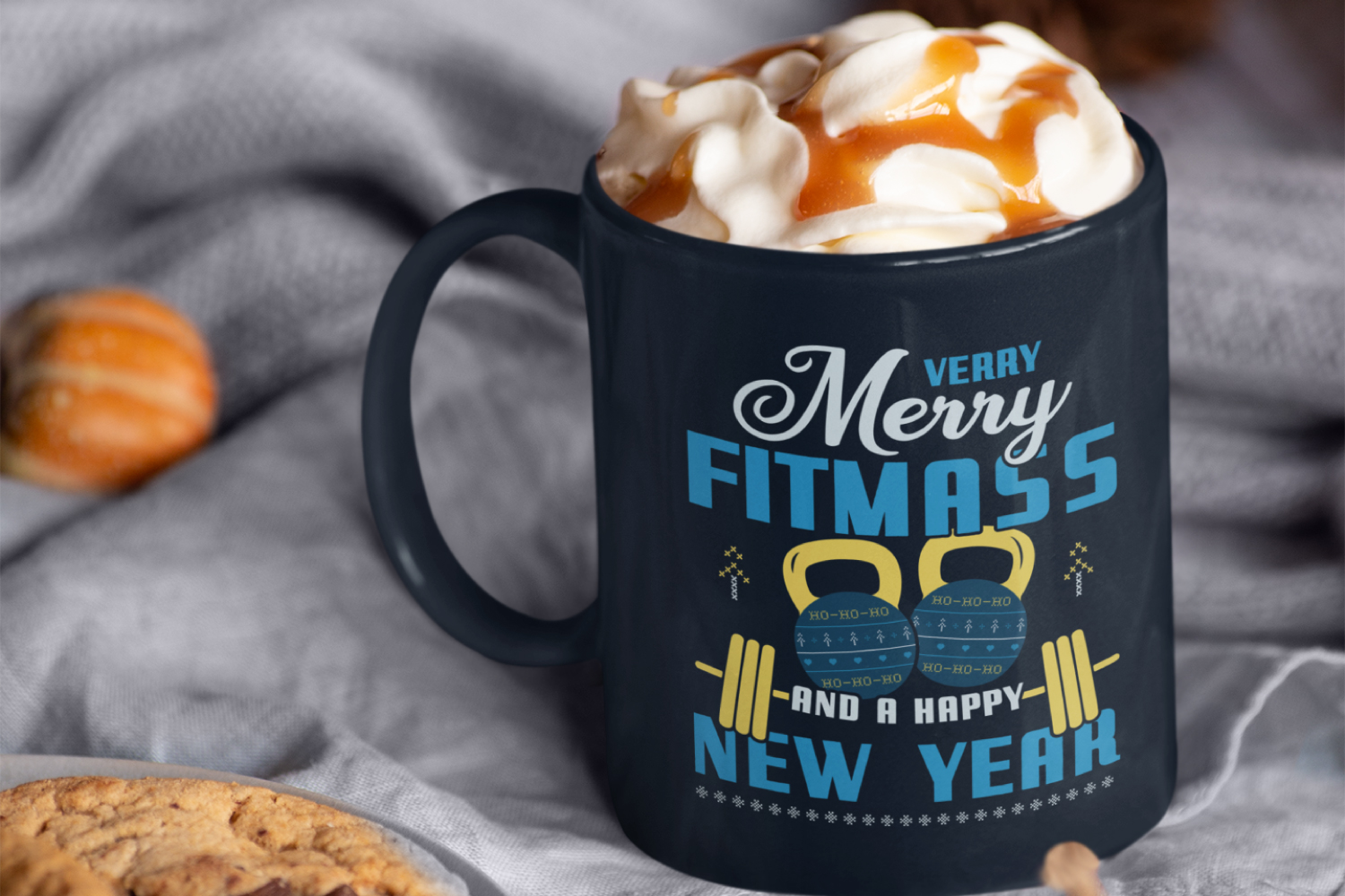 Merry Fitmass, Happy New Year Tshirt, Xmas Design SVG File example image 7