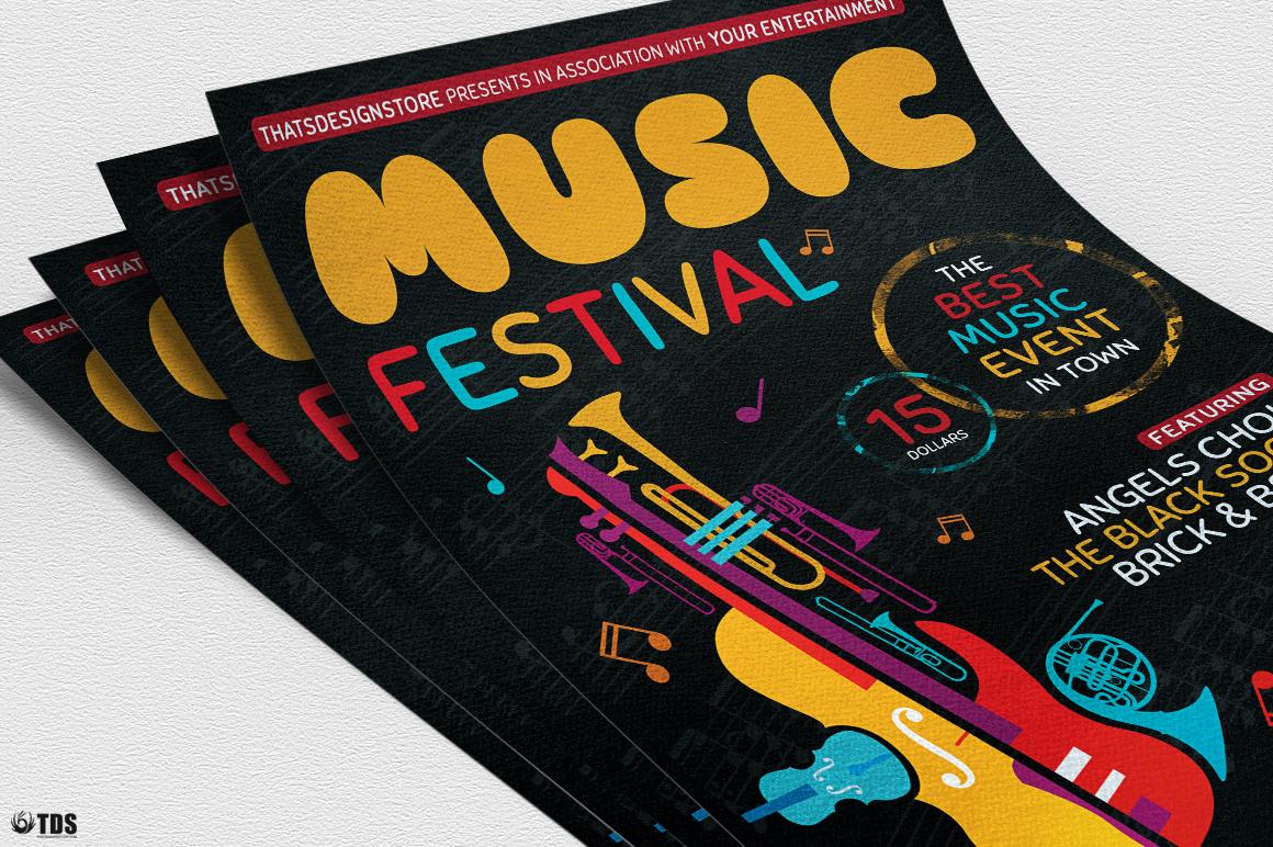 Music Festival Flyer Template V10 example image 5