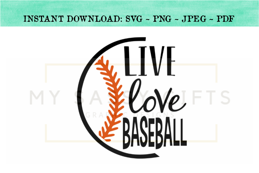 Live Love Baseball SVG Graphic Design example image 2
