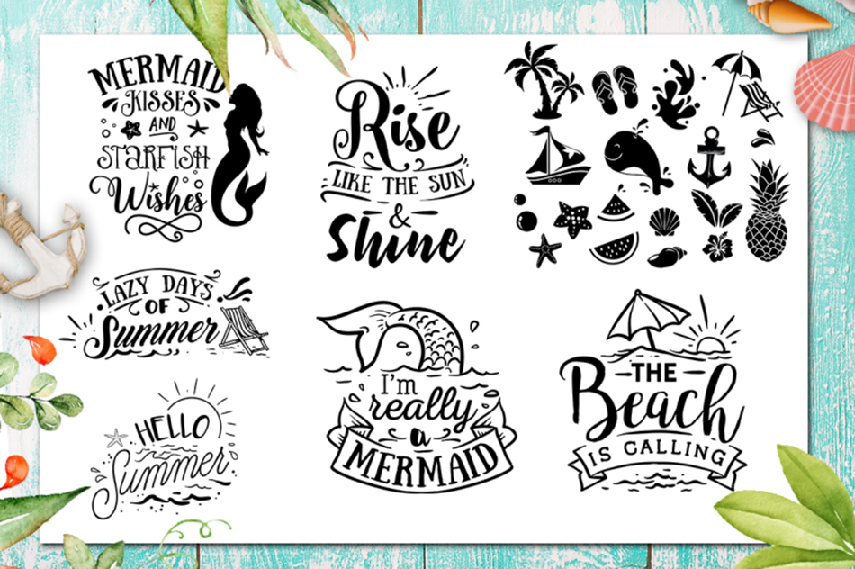 Summer SVG bundle 65 designs Beach SVG bundle example image 6