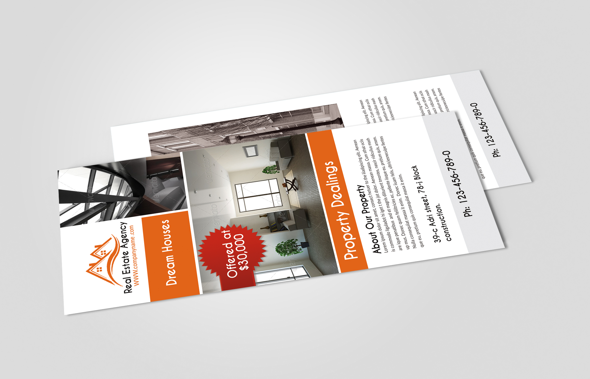 Real Estate Agency Rack Cards example image 3