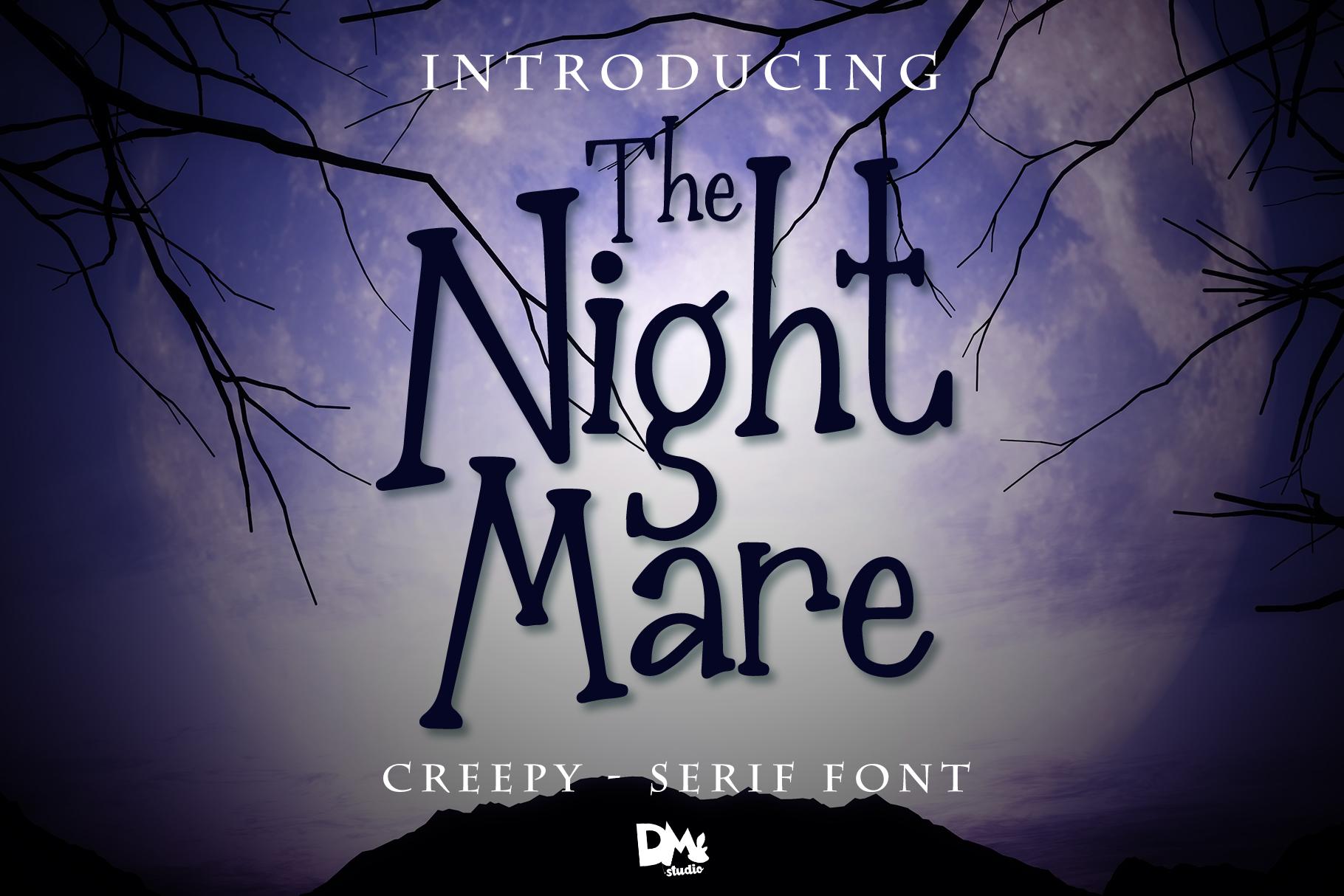 The Nightmare - Creepy Serif Font example image 1