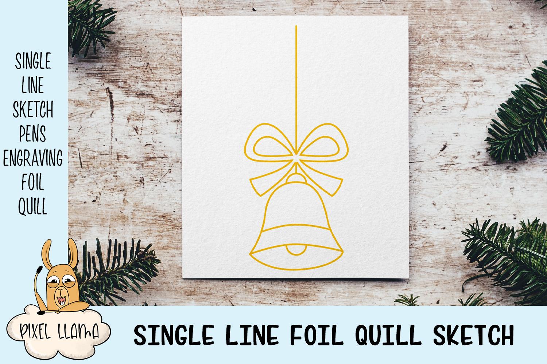 Christmas Ornaments Elements Bundle of 10 Single Line Sketch example image 2