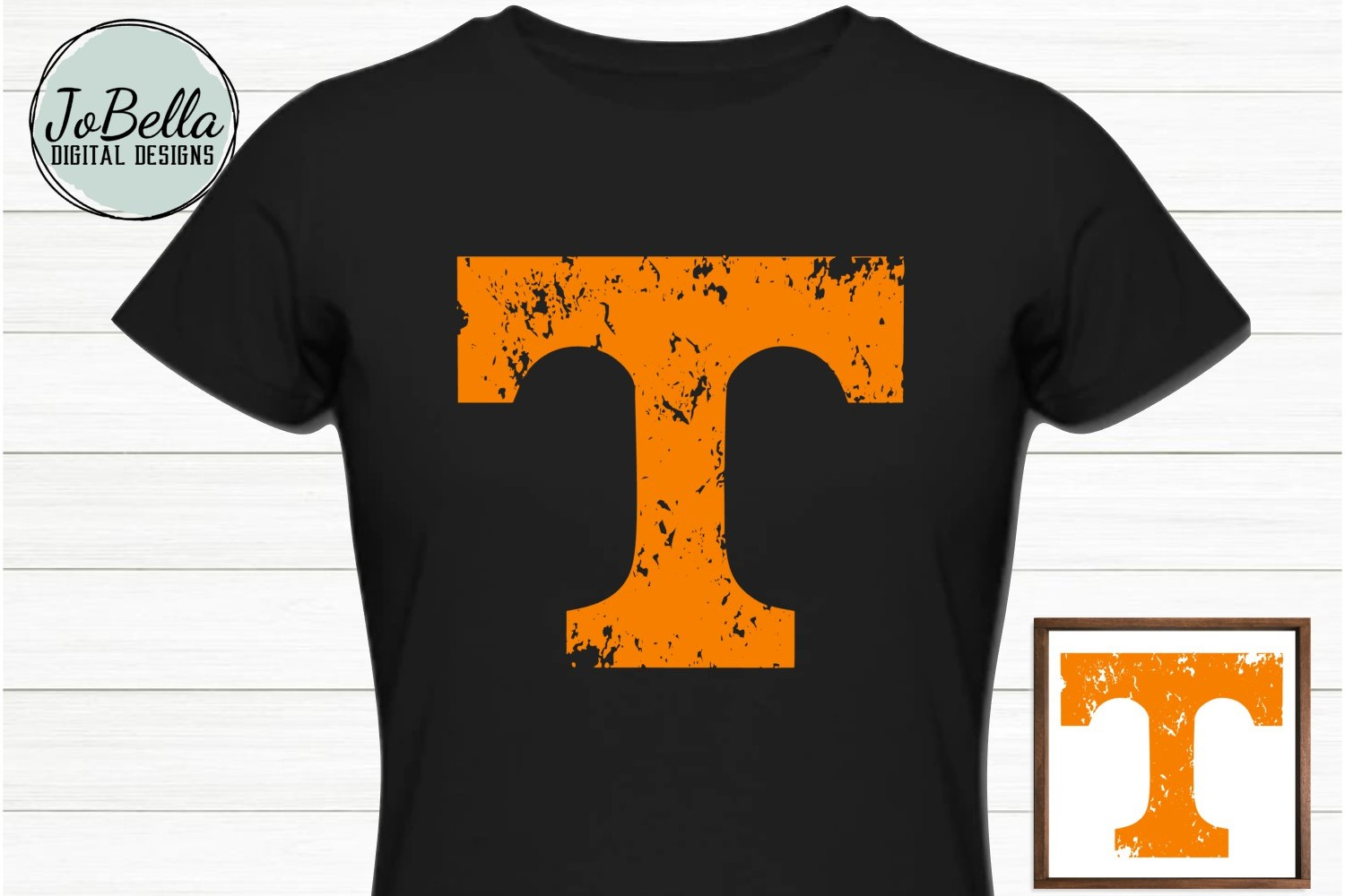Vols Orange Distressed Tennessee T SVG and Printable example image 2