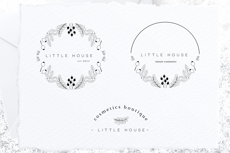 Minimal Premade Logo sets, feminine and minimal example image 3