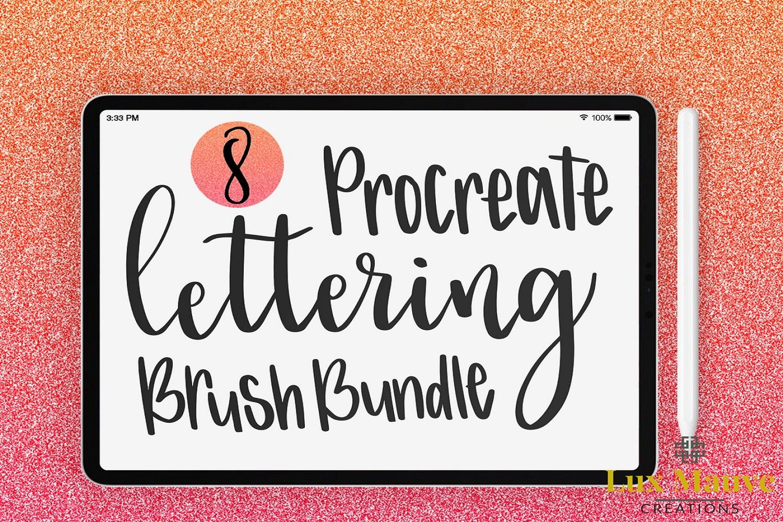 Procreate Lettering Brush Bundle example image 1