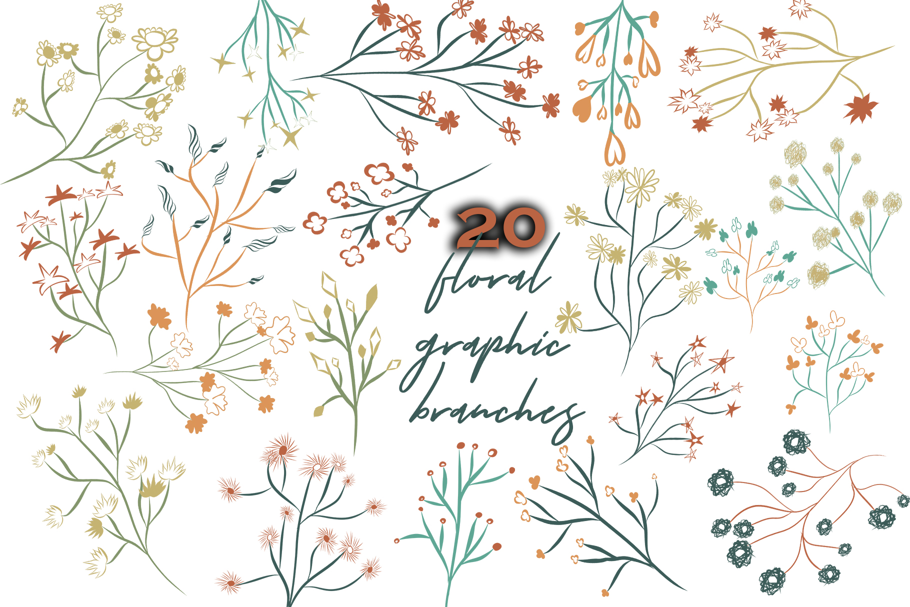 Floral graphic branches example image 2