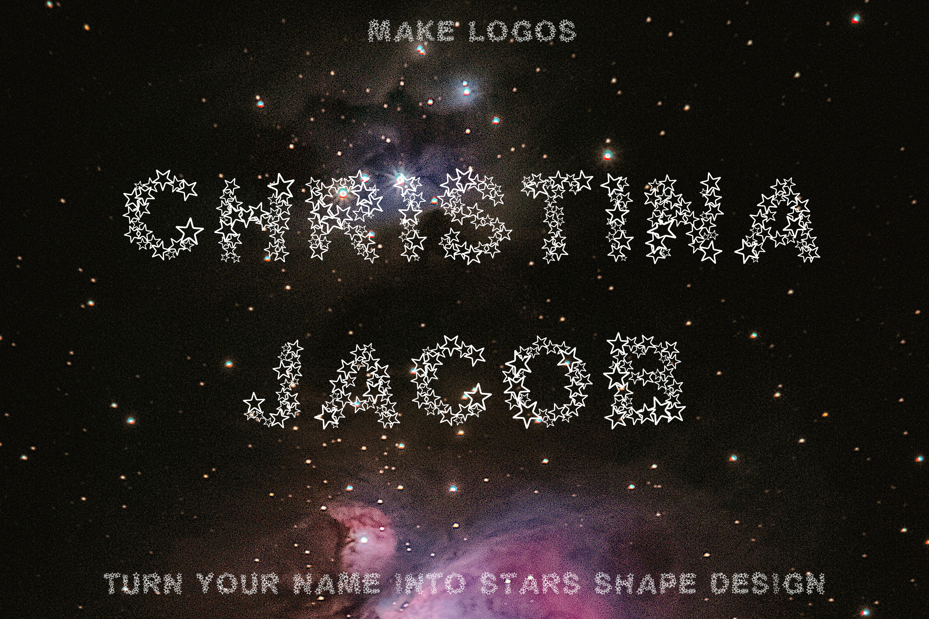 Simply Stars - Alphabets Star Font For Crafters example image 3