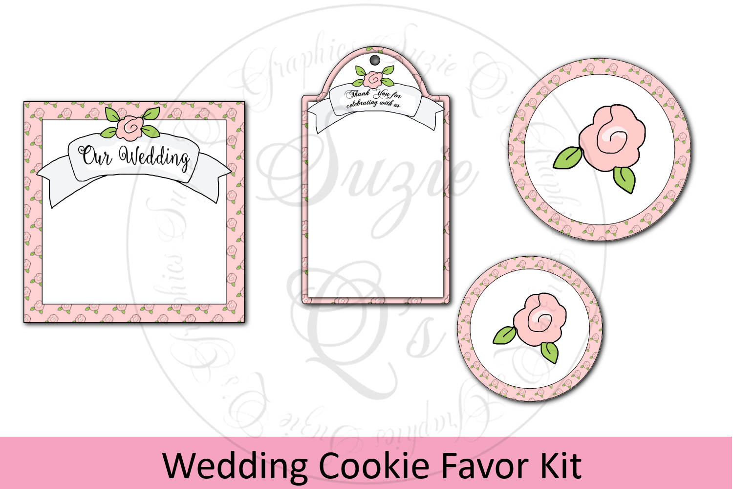 Wedding Cookie Favor Kit with Labels and Tag example image 1