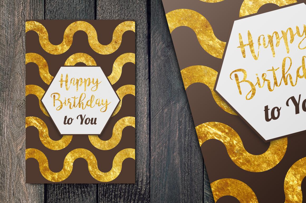 Happy Birthday Golden cards example image 1