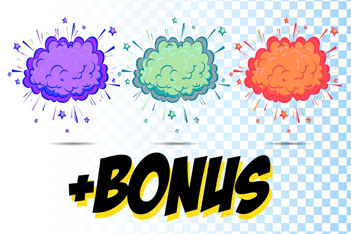 Comics pop art signs set_Vol.3 example image 3