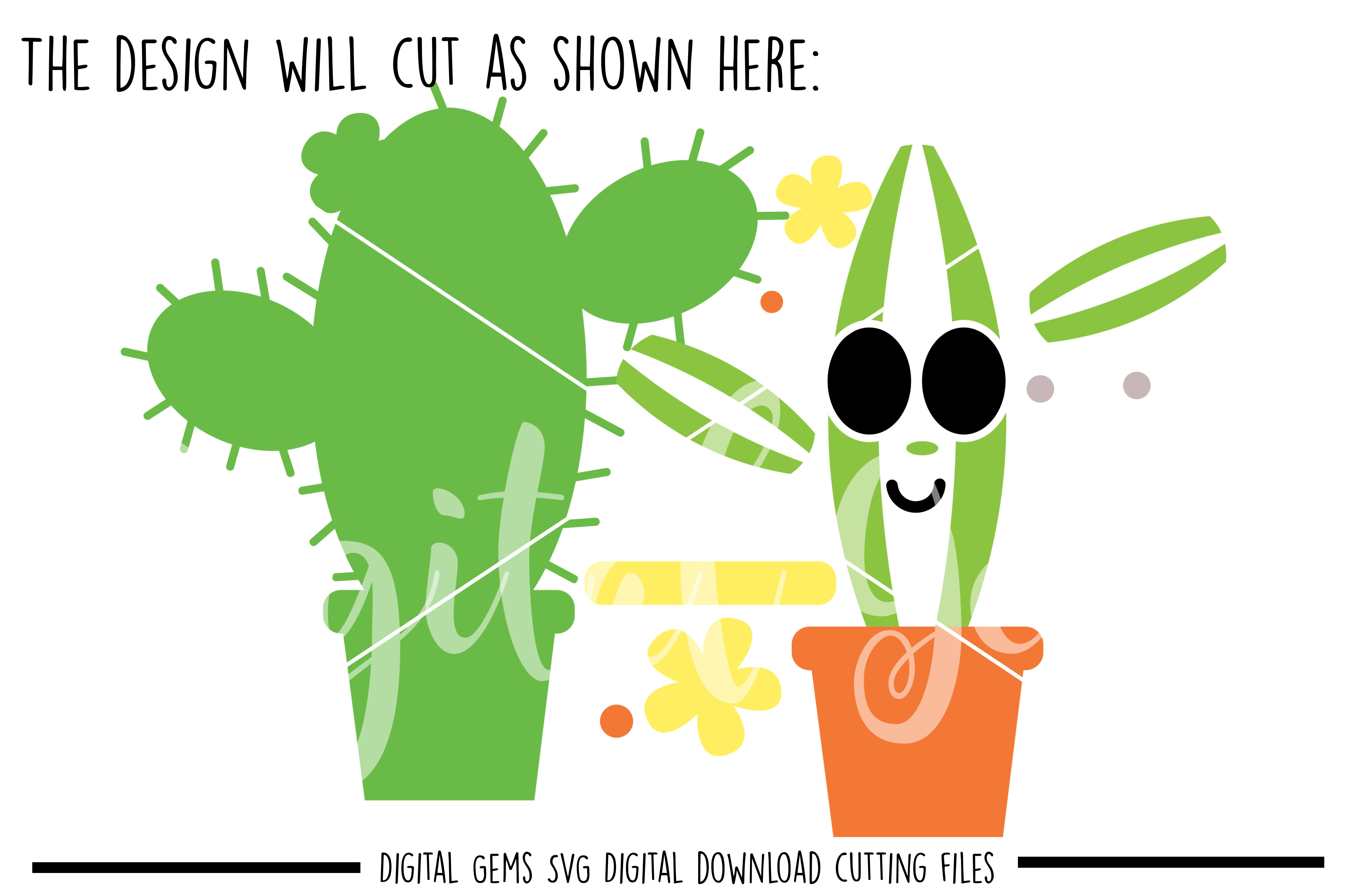 Cactus SVG / PNG / EPS / DXF Files example image 4