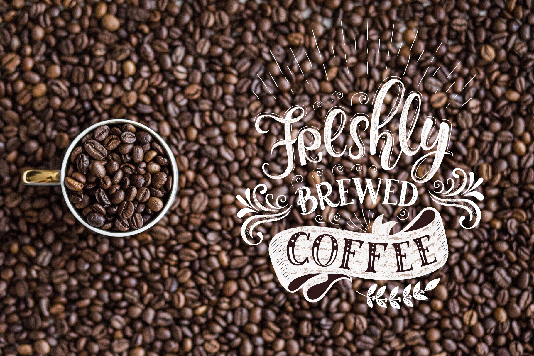 Coffee. Handlettering Quotes. example image 6