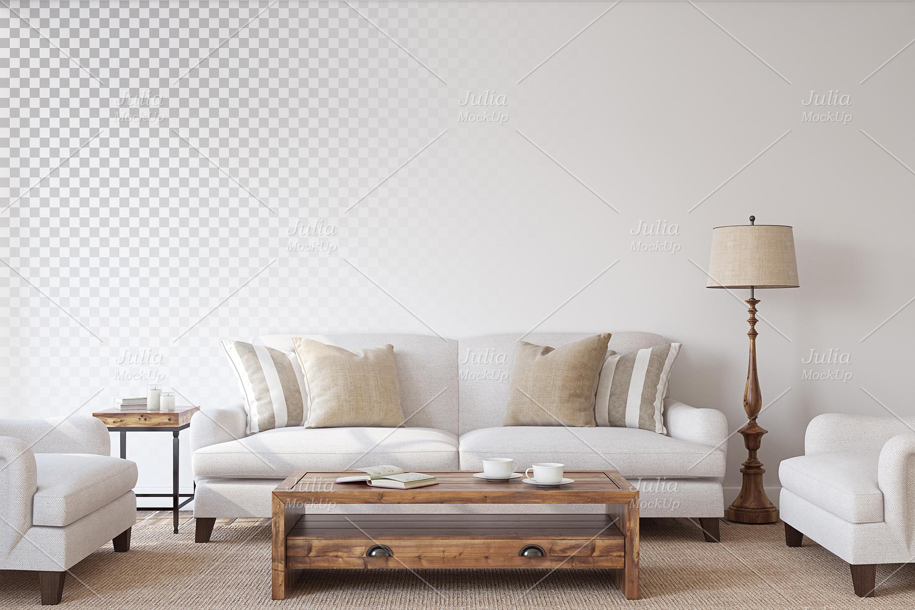 Farmhouse Style. Wall&Frames Mockup. example image 4