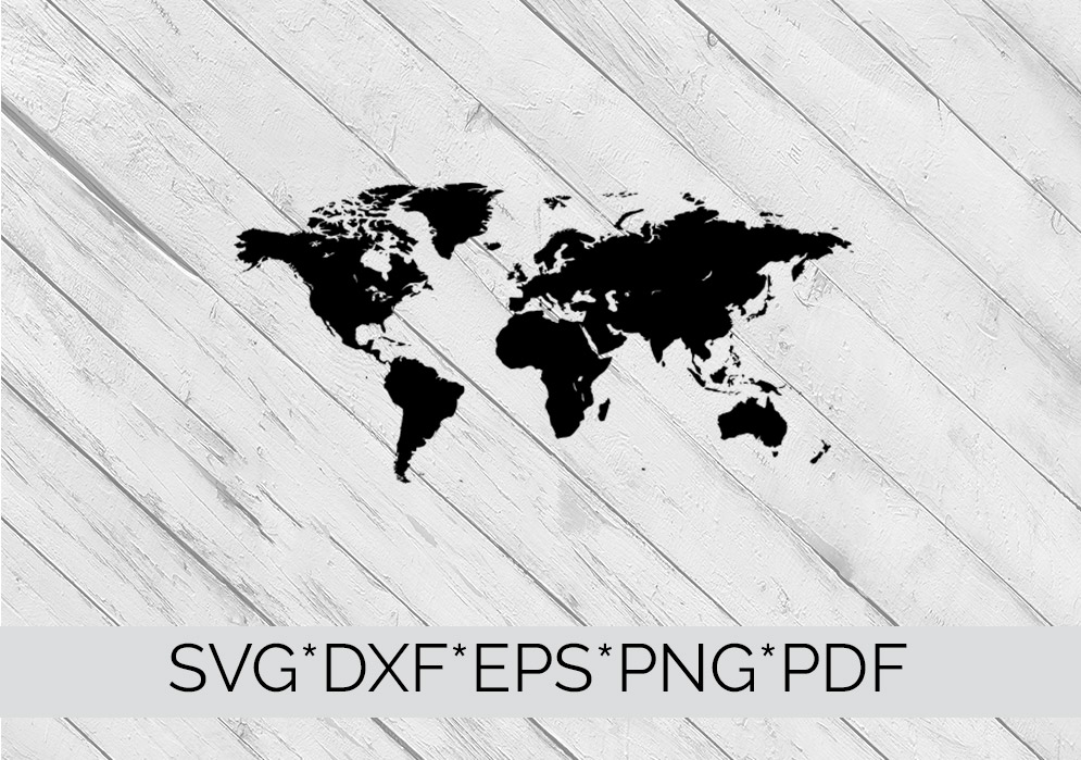 World Map  SVG Cutting File  example image 4