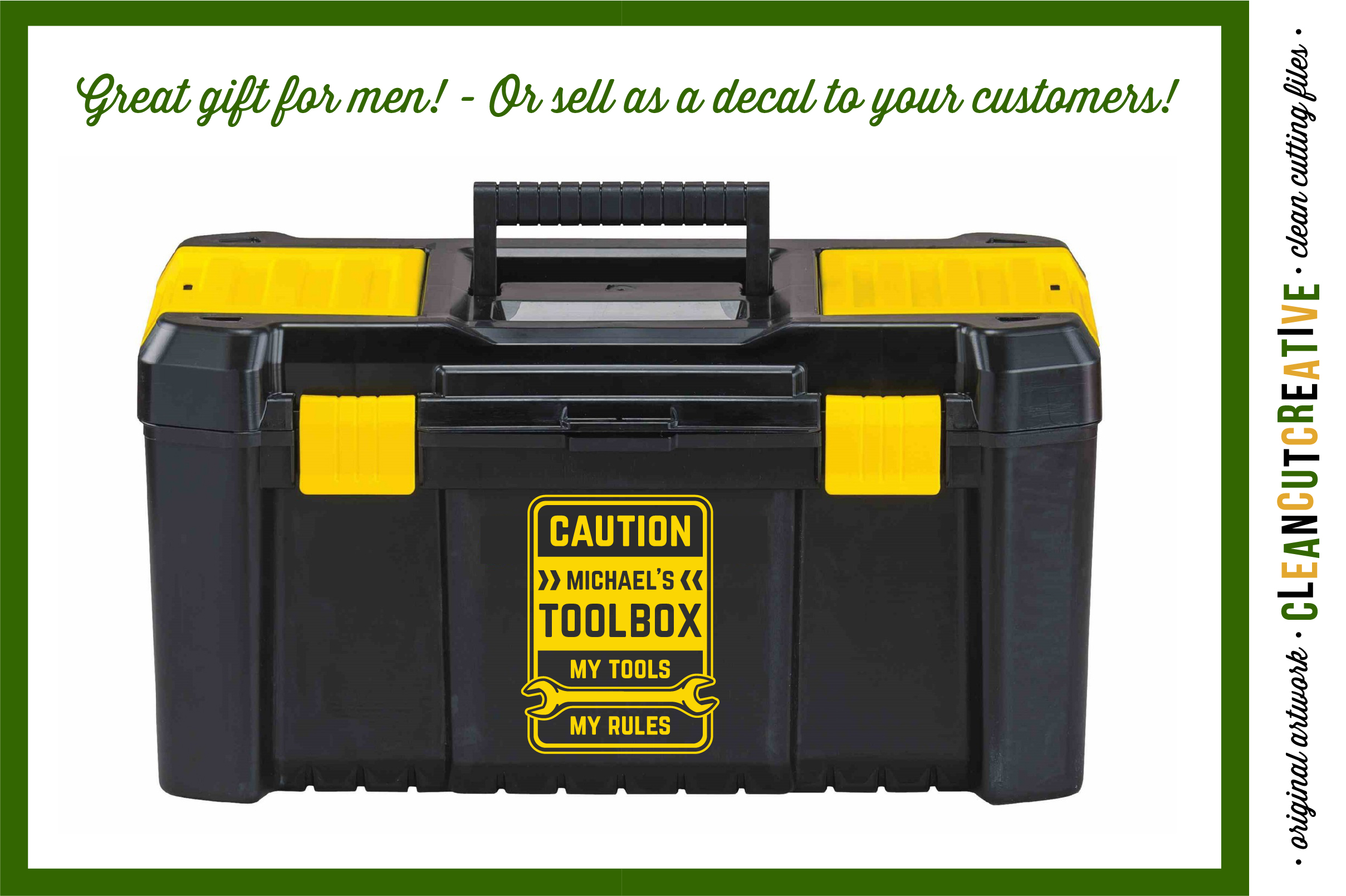 Mens Toolbox custom name decal - My Tools My Rules SVG file example image 2