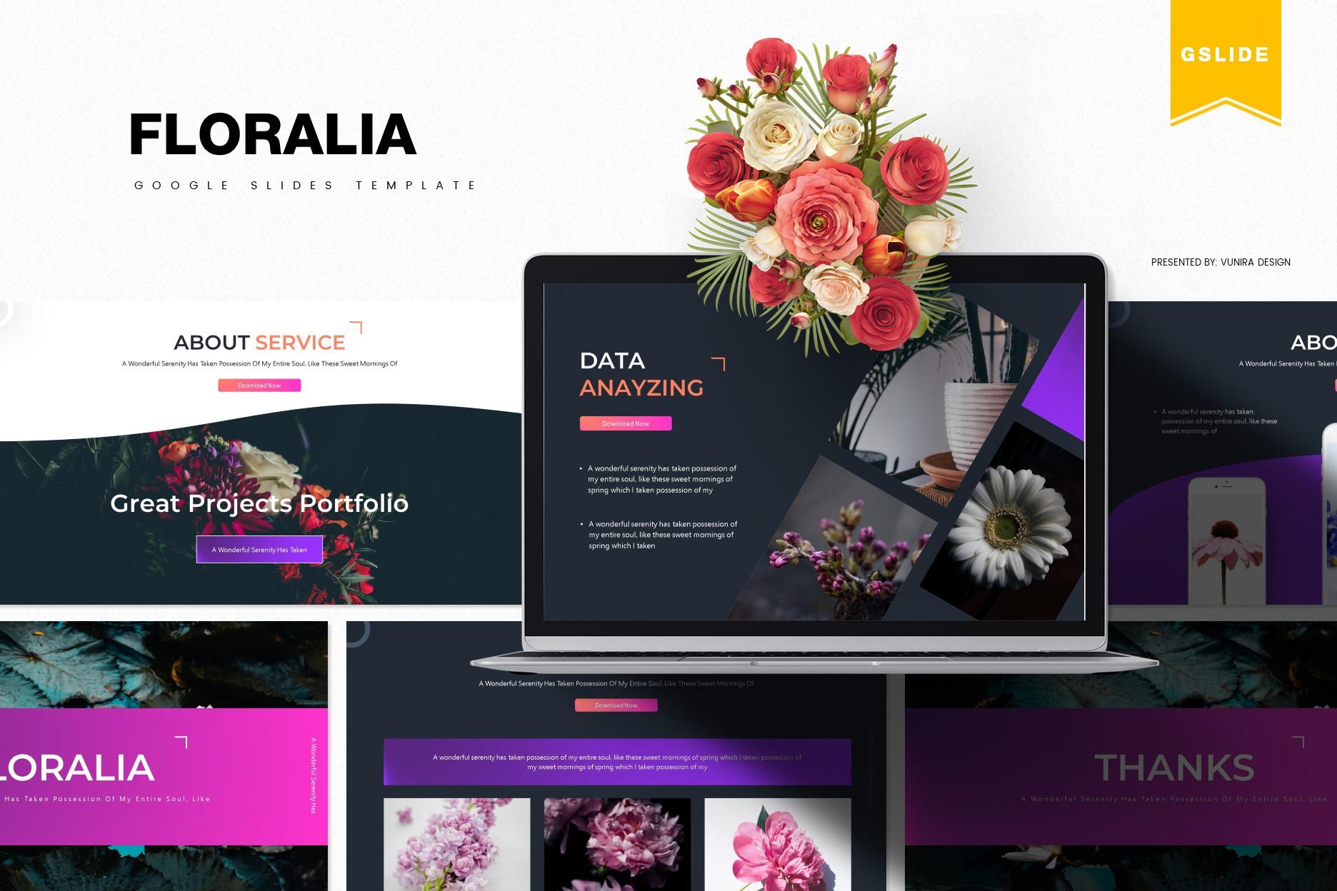 Floralia | Powerpoint, Keynote, GoogleSlides Template example image 1