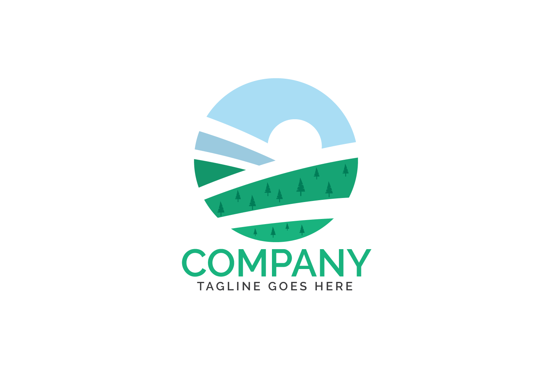 Organic farm logo design. example image 2