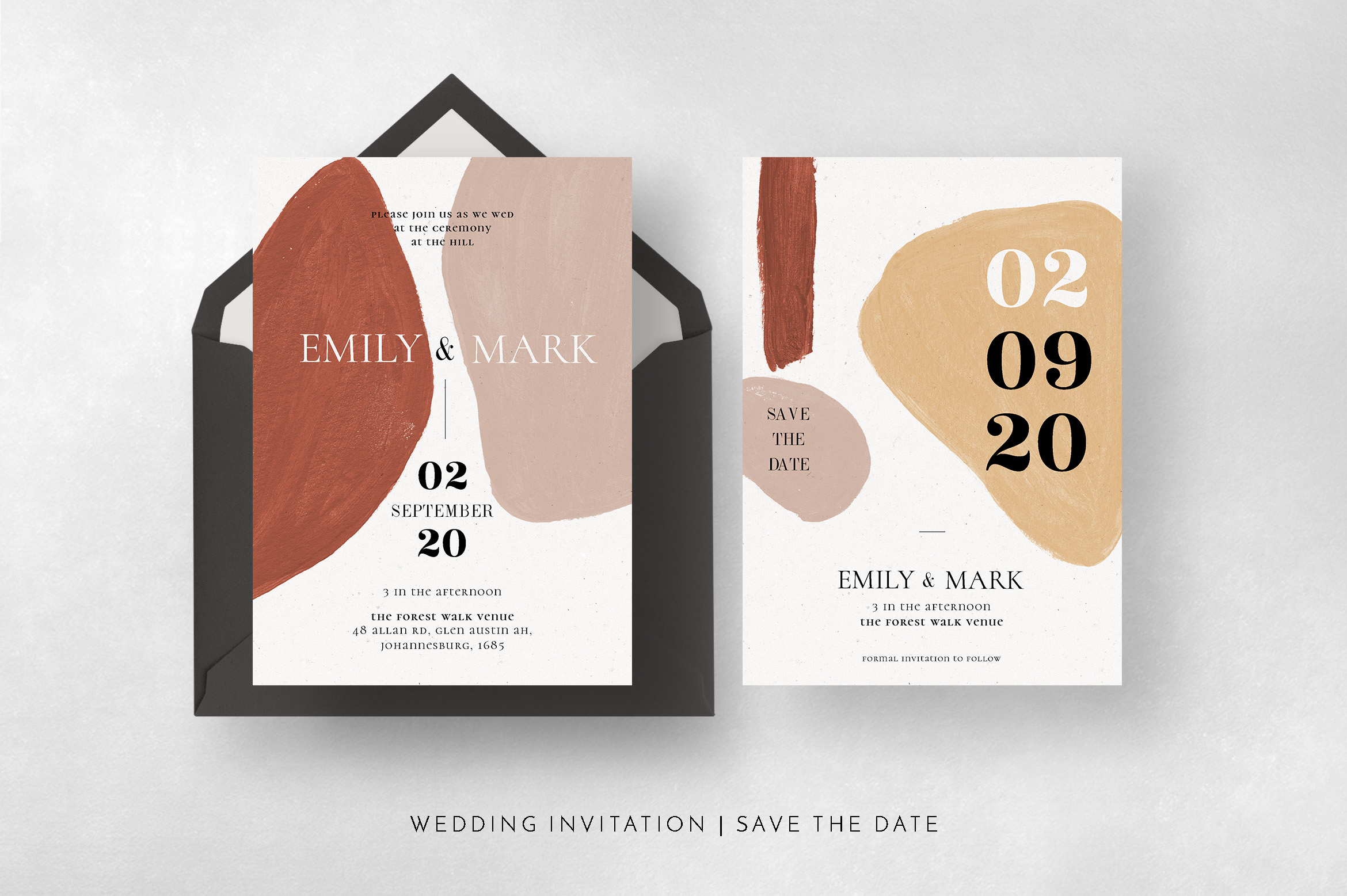 Modern Abstract Wedding Suite example image 12