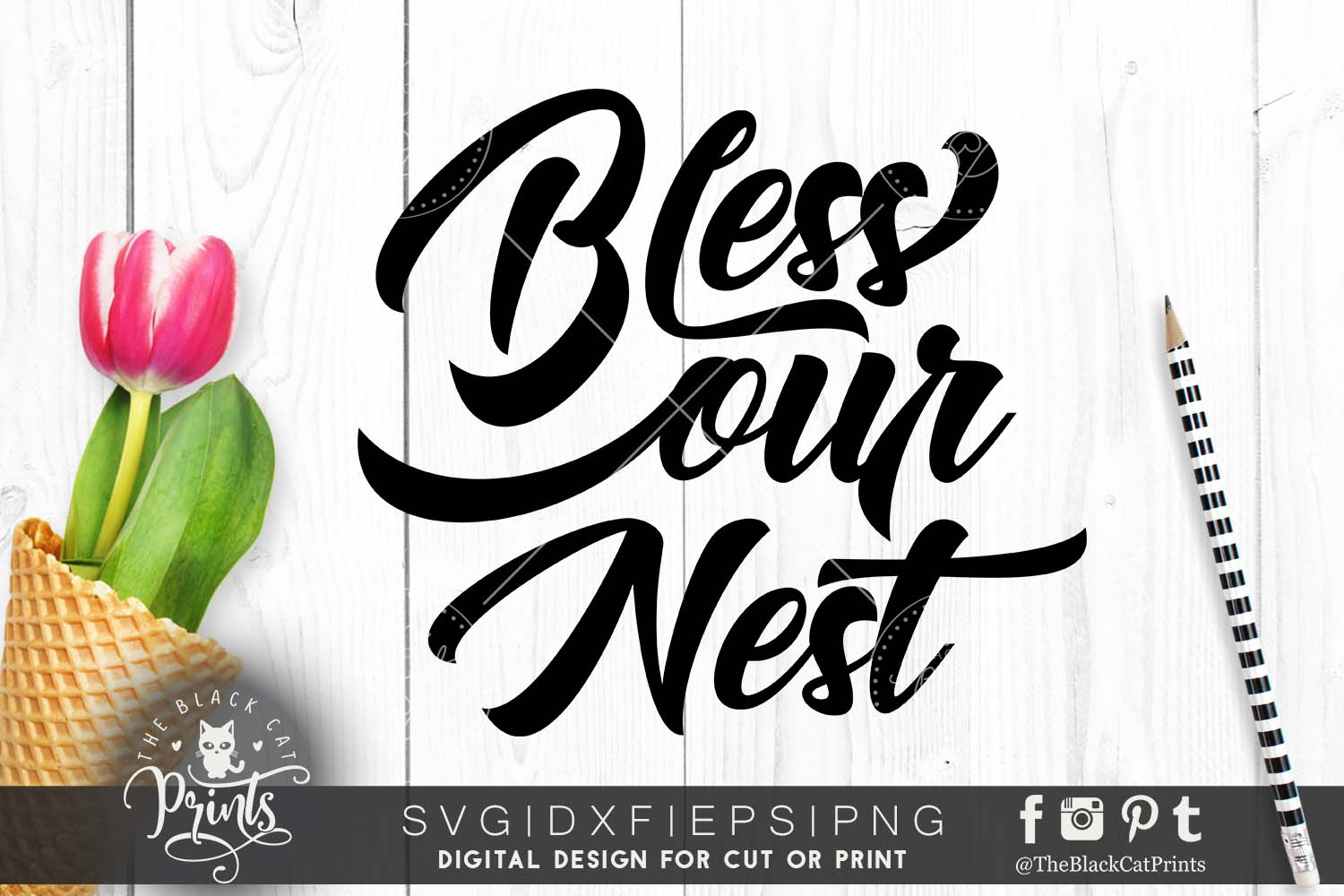 Bless our nest SVG DXF PNG EPS example image 1
