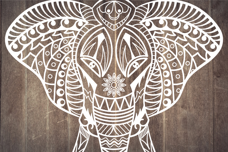 Elephant Mandala | vector files example image 4