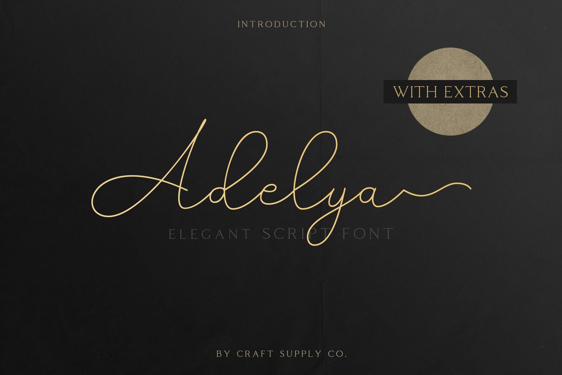 Adelya - Elegant Signature Font example image 2