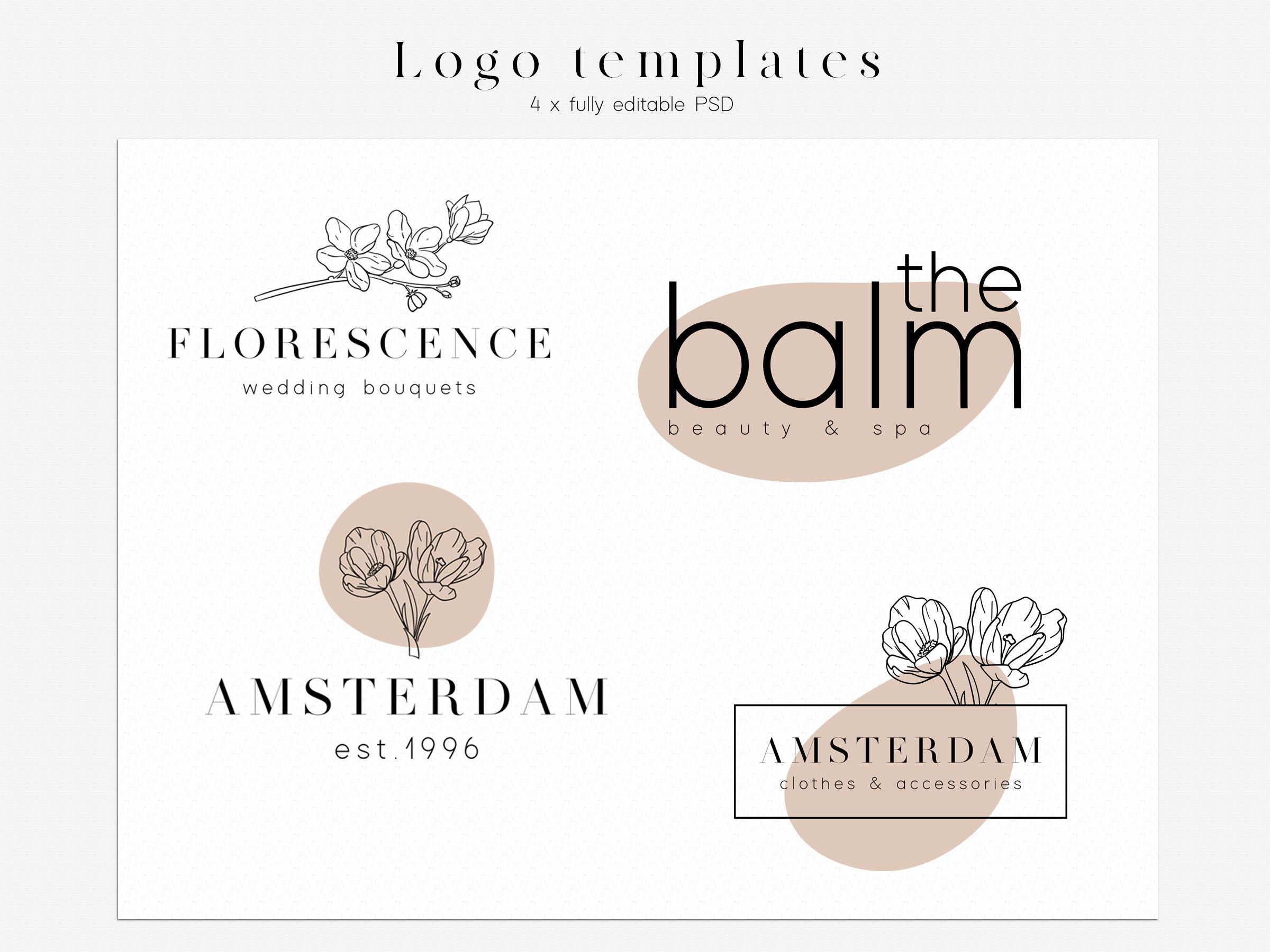 Branding Design Kit - DIY Logo example image 8