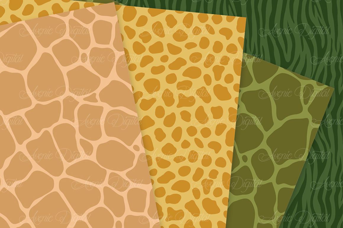 Fall Animal Print Vector Patterns -  Autumn Safari Seamless Digital Papers example image 2