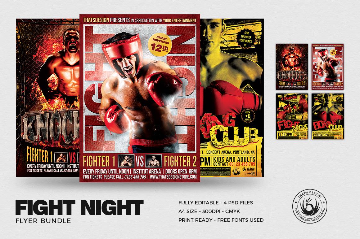 Fight Night Flyer Bundle example image 1