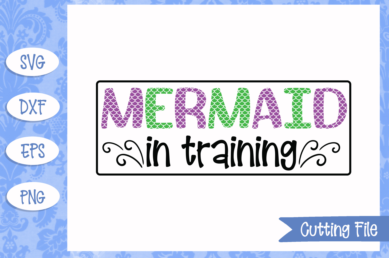 Mermaid in training, Mermaid SVG File example image 1