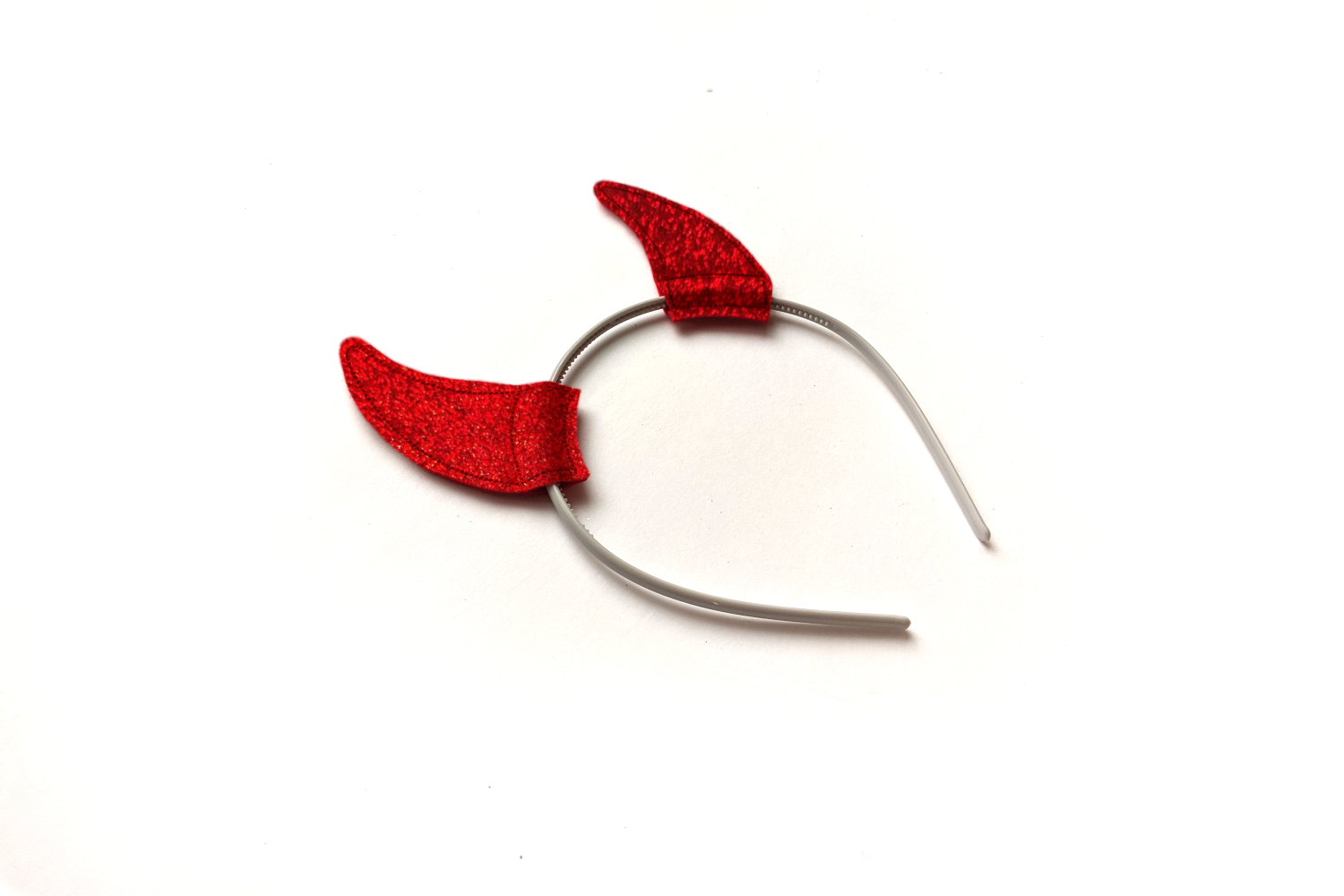 Devil Costume Horns ITH Headband Slider Applique Embroidery example image 1