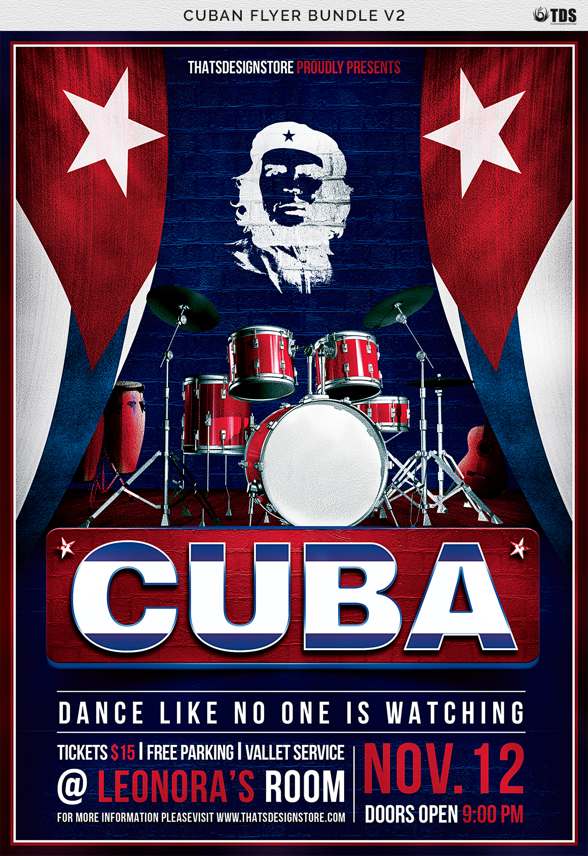 Cuban Flyer Bundle V2 example image 10