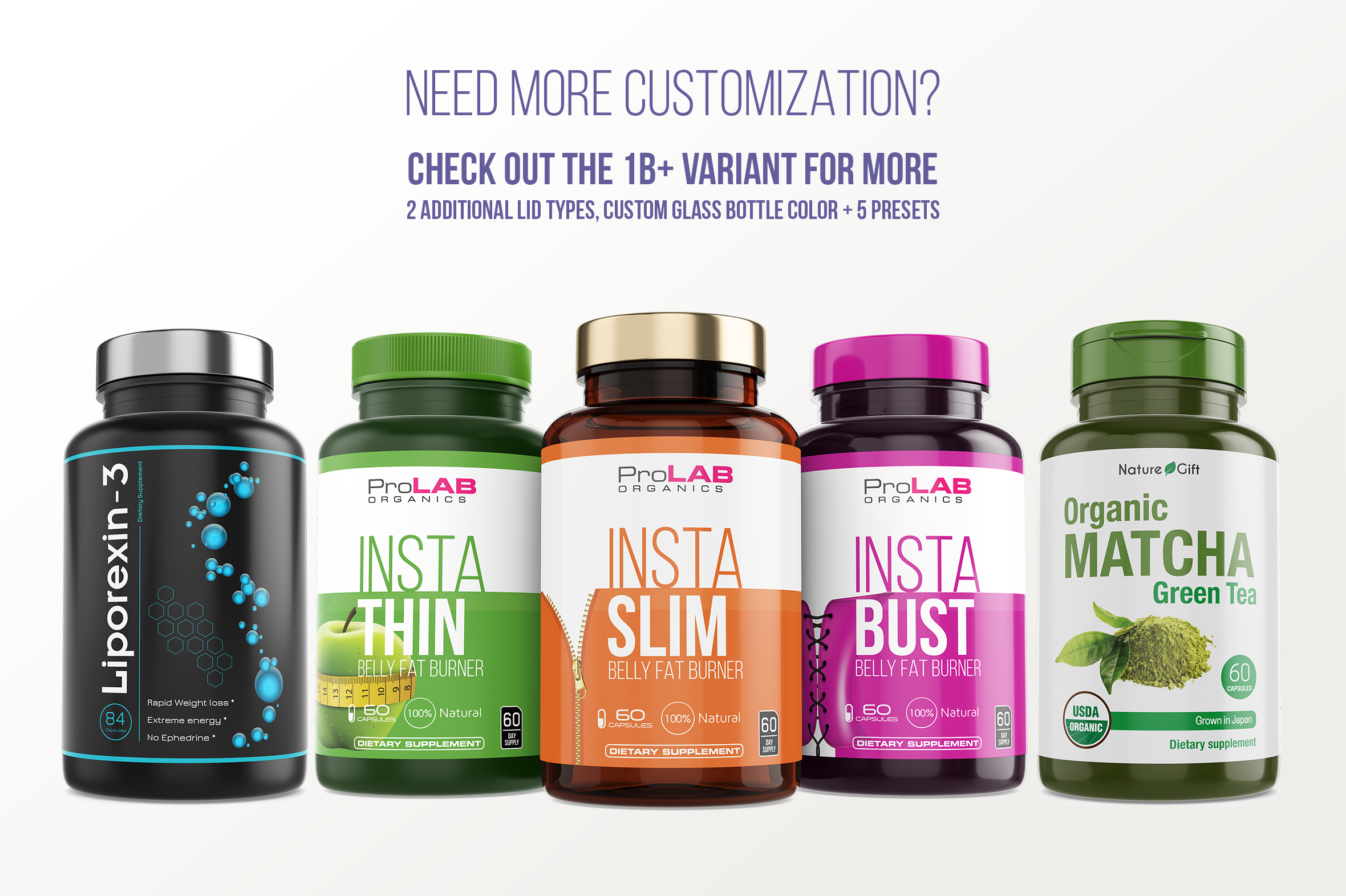 Dietary Supplement Mockup v. 1B example image 8